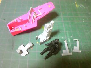 1/48 F-22 コクピットの製作